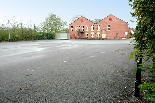 GHS Centre car park, at rear of building